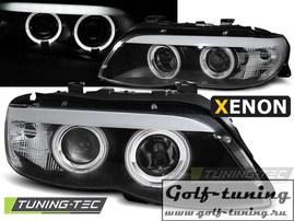 BMW X5 03-06 Фары Angel Eyes под ксенон черные