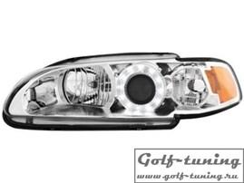 Honda Civic 92-95 2D / 3D Фары с линзами и ангельскими глазками хром