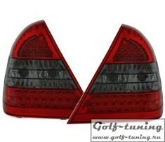 Mercedes W202 93-00 Фонари светодиодные, красно-тонированные