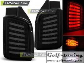VW T5 03-15 Фонари светодиодные, черно- тонированные