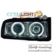 VW Corrado Фары с линзами и CCFL ангельскими глазками хром