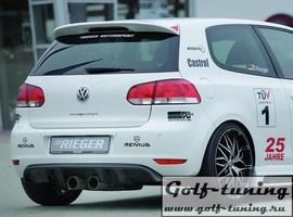 VW Golf 6 Вставка в задний бампер carbon look