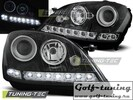 Mercedes W164 05-07 Фары Devil eyes, Dayline черные