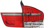 BMW X5 E70 07- Фонари светодиодные, красно-тонированные