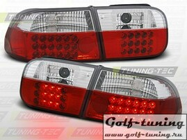 Honda Civic 91-95 2D/4D Фонари светодиодные, красно-белые