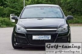 Opel Astra H GTC 3D 04-07 Решетка без значка с хром полосой