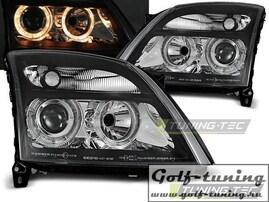 Opel Vectra C 02-05 Фары Angel eyes черные