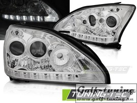 Lexus RX 330/350 03-08 Фары Devil eyes, Dayline хром