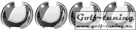 VW Golf 4, Bora, Passat 00-, Lupo 00-, Polo 01-, Seat Leon Накладки под дверные ручки хром