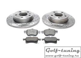 Opel Astra F/G/H/Corsa C/Meriva B/Zafira A/B/C Комплект спортивных тормозных дисков и колодок