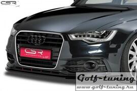 Audi A6 C7 S-Line 11-14 Накладка на передний бампер Cupspoilerlippe глянцевая