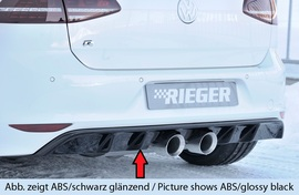 VW Golf 7 R 12-17 Диффузор для заднего бампера