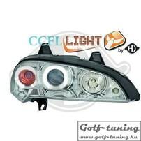 Opel Tigra 94-00 Фары с линзами и CCFL ангельскими глазками хром
