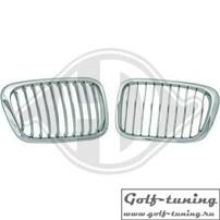 BMW E46 98-01 Решетки радиатора (ноздри) хром