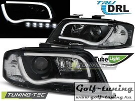 Audi A6 01-04 Фары Tube Lights черные