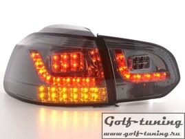 VW Golf 6 Фонари светодиодные, тонированные с светодиодным поворотником
