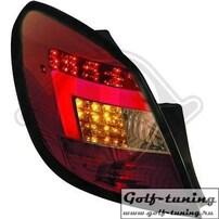 Opel Corsa D 5Дв 06-14 Фонари светодиодные, красно-тонированные