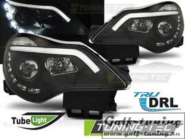 Opel Corsa D 11-14 Фары drl light черные