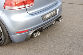 VW Golf 6 Глушитель rieger Typ 14 00242003