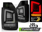 VW T5 09-15 Фонари led bar черные с бегающим поворотником