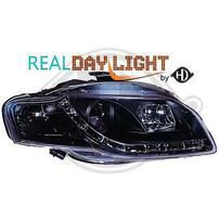 Audi A4 B7 04-08 Фары Devil eyes, Dayline черные