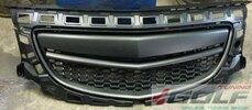 Opel Insignia 08-13 Решетка радиатора без значка черная OPC Look