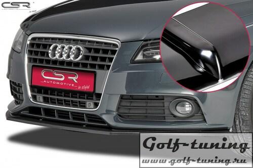 Audi A4 B8 07-11 Накладка на передний бампер Cupspoilerlippe глянцевая