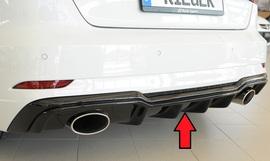 Audi A3/S3 8V 3/5Дв16- Накладка на задний бампер/диффузор глянцевая