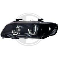 BMW X5 99-03 Фары с 3D ангельскими глазками черные