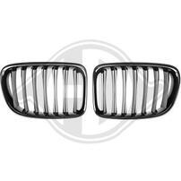 BMW X1 09-12 Решетки радиатора (ноздри) глянцевые