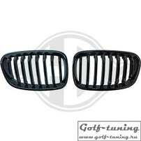 BMW F20 11-15 Решетки радиатора (ноздри) черные, глянцевые