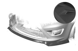 Ford Focus MK2 ST 07-10 Накладка на передний бампер матовая