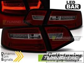 Audi A6 4F 08-11 Седан Фонари светодиодные Led bar design красно-тонированные