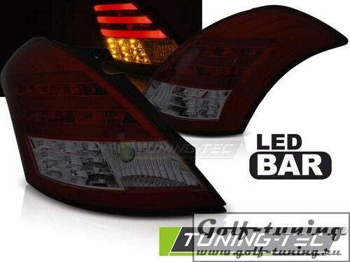 Suzuki Swift 10- Фонари lightbar design красно-тонированные