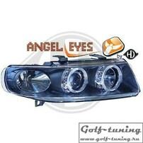 Seat Toledo 99-05 Фары с ангельскими глазками и линзами черные