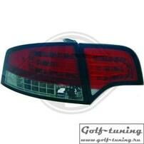 Audi A4 B7 04-08 Седан Фонари светодиодные, красно-тонированные с светодиодным поворотником