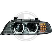 BMW E39 95-03 Фары с 3D Led ангельскими глазками хром