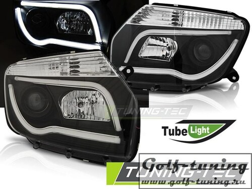 Renault Duster 10-14 Фары Tube Light черные