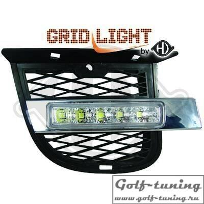 Hyundai Tucson 04-10 Дневные ходовые огни хром