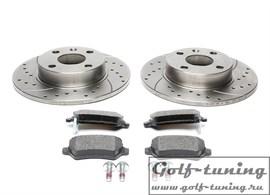 Opel Corsa C/Combo/Tigra Twintop Комплект спортивных тормозных дисков и колодок