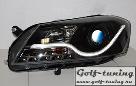 VW Passat B7 Фары Lightbar design черные