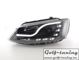 VW Jetta 11-19 Фары Devil eyes, Dayline черные
