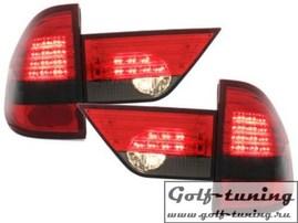 BMW X3 04-10 Фонари светодиодные, красно-тонированные