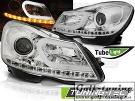 Mercedes W204 11-14 Фары Tube light хром