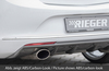 Opel Astra J 12-15 Диффузор для заднего бампера глянцевый