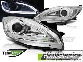 Mazda 3 09-13 Фары tube light хром