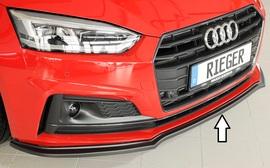 Audi A5/S5 B9 16- Накладка на S-Line передний бампер/сплиттер