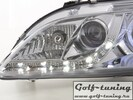Mazda 6 02-07 Фары Devil eyes, Dayline с ангельскими глазками и линзами хром