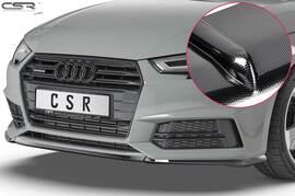 Audi A4 B9 8W S-Line/ S4 B9 8W 15-19 Накладка на передний бампер Carbon look