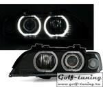 BMW E39 95-00 Фары с Led ангельскими глазками и линзами черные